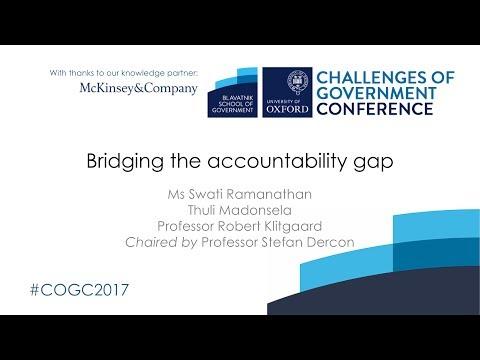 Bridging the accountability gap