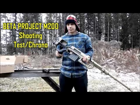 BETA PROJECT M200 SHOOTING TEST (STRAIGHT FROM THE BOX) - DICE Airsoft