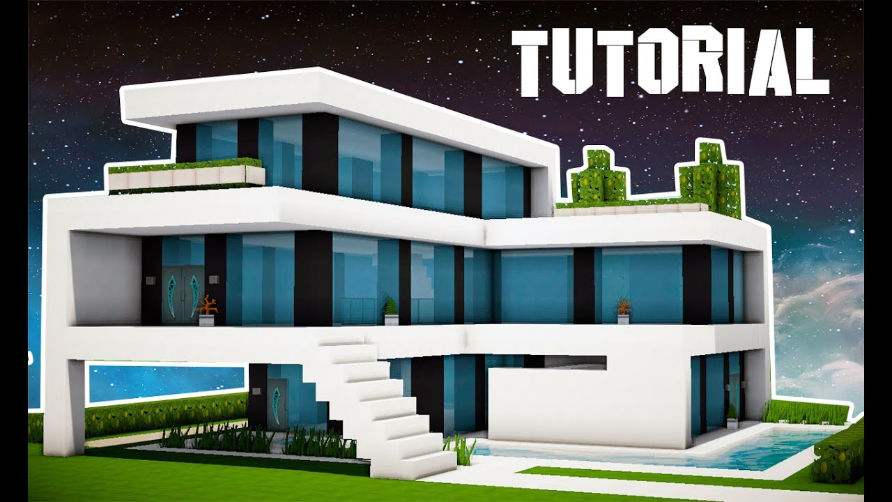 Minecraft tutorial mans o super moderna manyacraft for Casa moderna minecraft 0 12 1