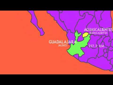 Mapas: ¿Cómo llegar de Aguascalientes, Ags. a Guadalajara, Jal?