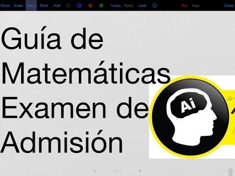 Guía de matemáticas UNAM para el examen de admisión licenciatura.