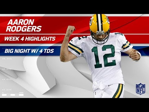 Aaron Rodgers Dominates the Bears Defense w/ 4 TDs! | Bears vs. Packers | Wk 4 Player Highlights