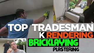 how to lay block and k rend a wall