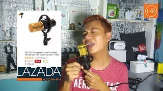 BM-800 Condenser Sound Recording Microphone Unboxing Review