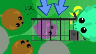 TRAPPING PETS MOPEIO [2] TROLLING HIPPOS & BIG ANIMALS / CONSTRAINED TROLL (Mope.io Funny Moments)