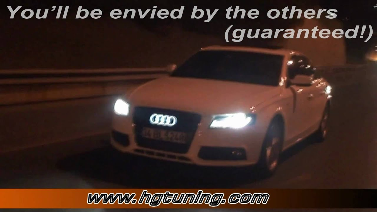 Audi Lighted Emblem Like I ROBOT YouTube - Audi car emblem