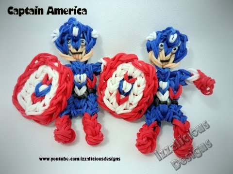 Rainbow Loom Captain America Action Figure/Charm Tutorial from YouTube · Duration:  32 minutes 55 seconds