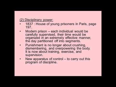 Foucault and Disciplinary Power