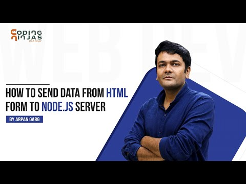 How To Send Data From Html Form To Node.js Server