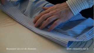 Comment bien repasser une chemise. Etape1: Le col