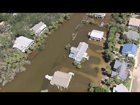 Irma Floods Edisto Island, SC-Aerial Views