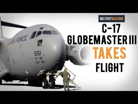 C-17 Globemaster III Takes Flight (Military Machine)