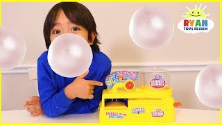 Make your own real working bubble gum with Ryan ToysReview Video