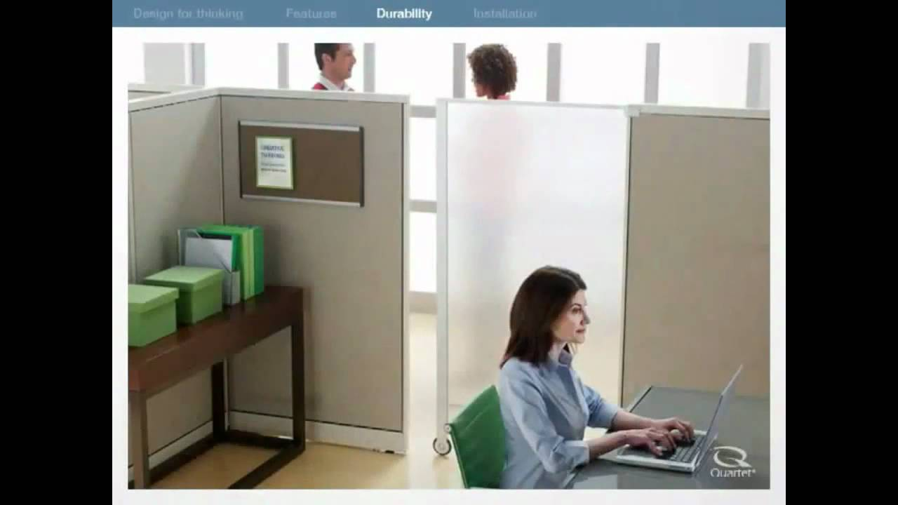 Quartet Premium Cubicle Privacy Screen 2000 Demo Video