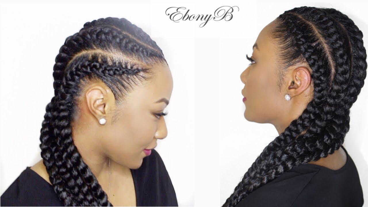 Hair Braids Styles Near Me: Beautiful Goddess Braids At EbonyB Salon