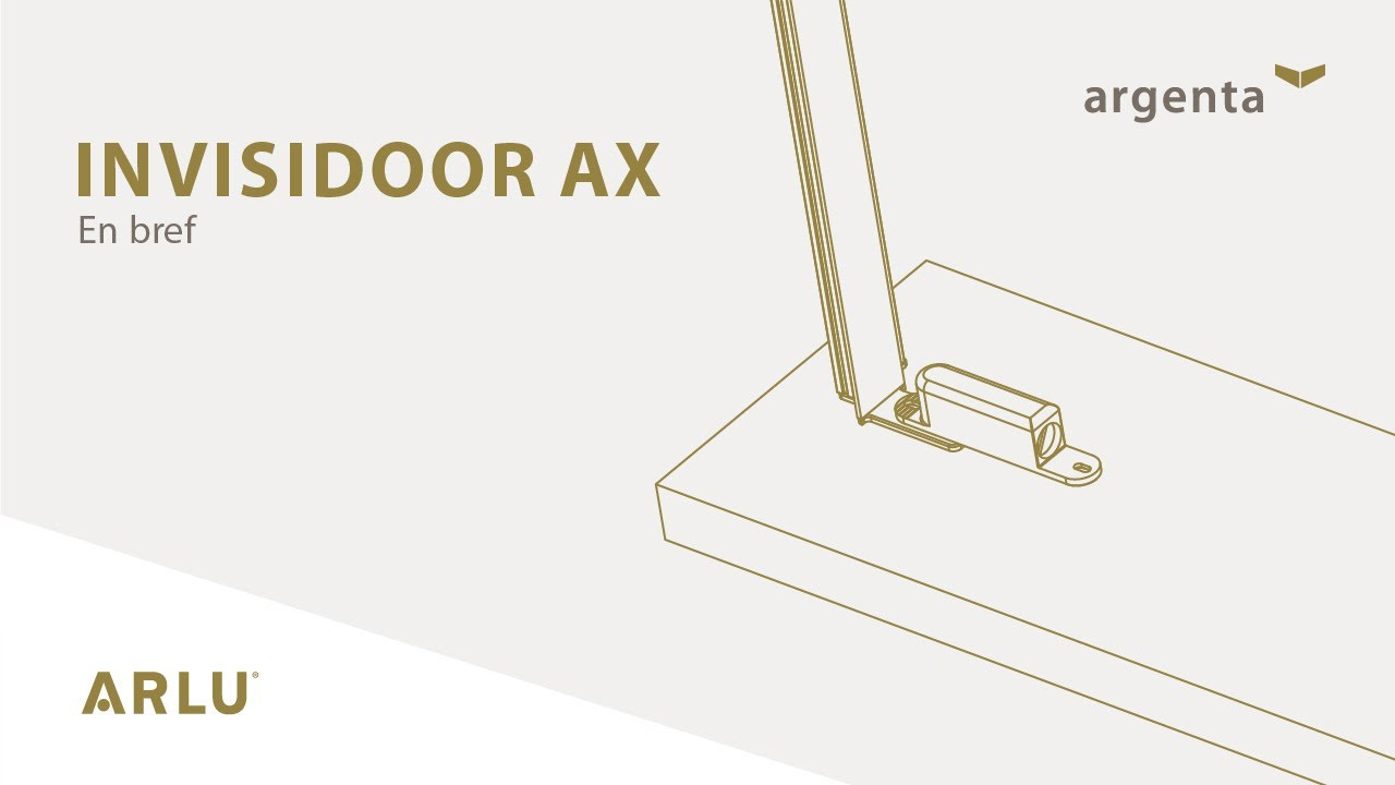 argenta invisidoor ax cadre invisible en aluminium pour porte int rieure pivotante youtube. Black Bedroom Furniture Sets. Home Design Ideas