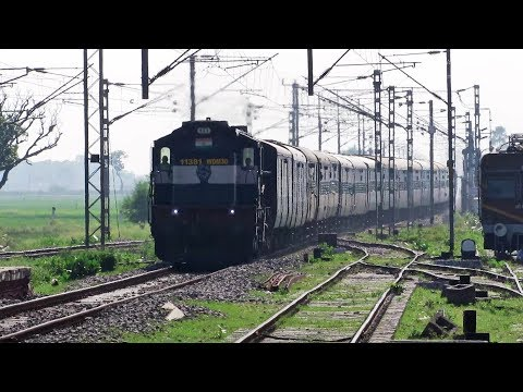 WEIRD HONKING & HIGH SPEED ALCO | 19063 UDHNA - DANAPUR Bi Weekly Express !!