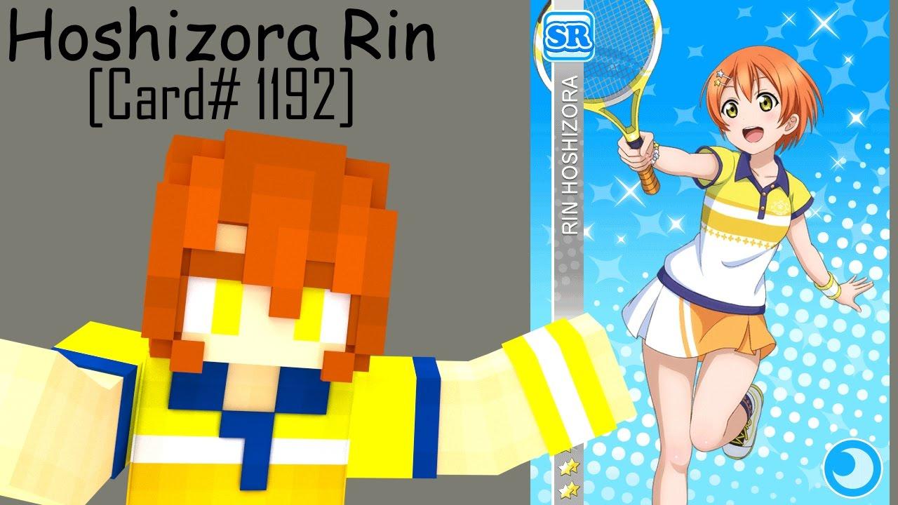 Minecraft Skin Speed Art Hoshizora Rin Tennis Card Set Card 1192