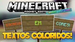 Como escrever EM CORES no Minecraft Pocket Edition!! - Tutorial Minecraft PE 0.14.0