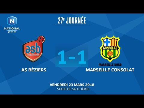 J27 : AS Béziers - GS Marseille Consolat (1-1), le replay I National FFF 2018