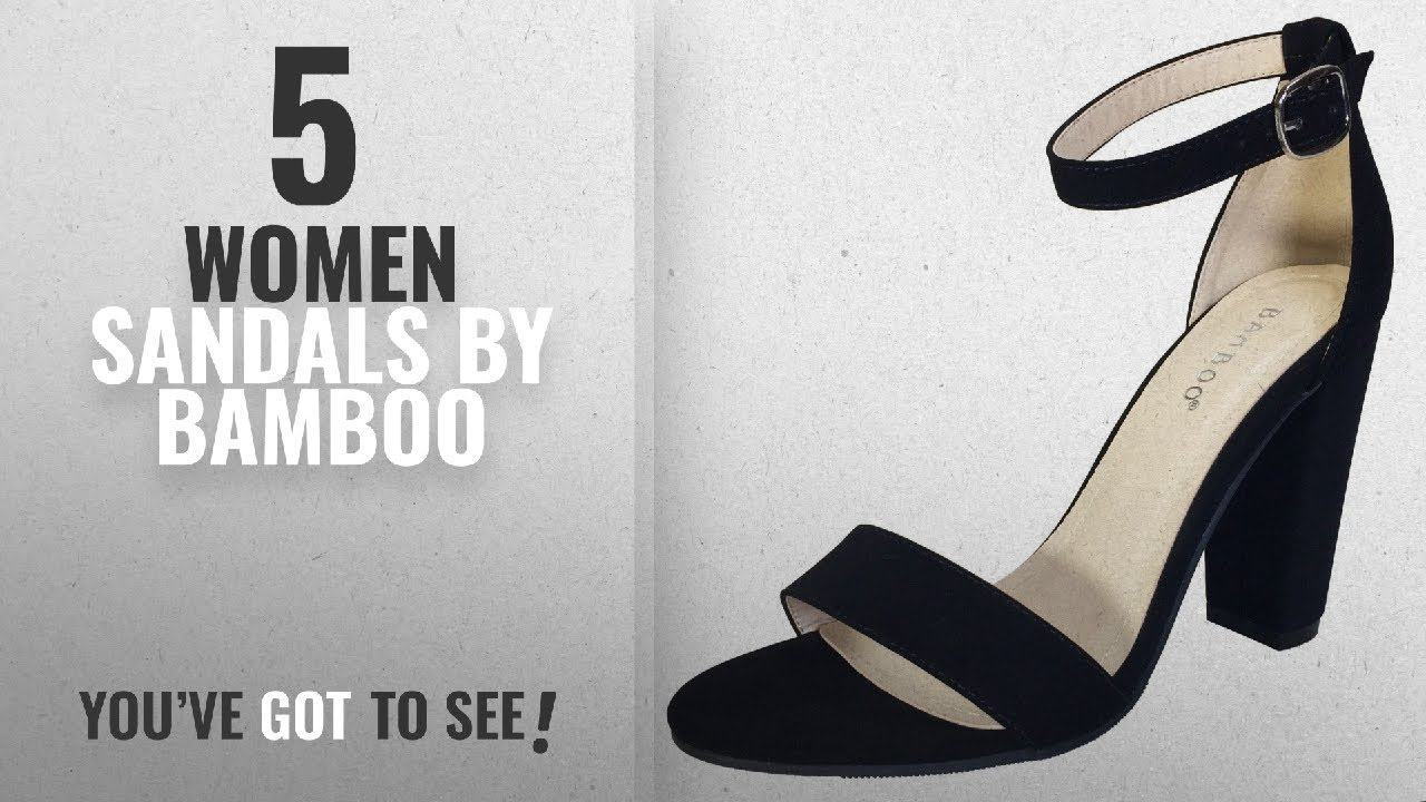 b2b4af71a Top 5 Bamboo Women Sandals  2018   Bamboo Women s Single Band Chunky Heel  Sandal With Ankle Strap