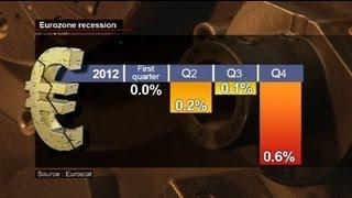 Euro Bölgesi'nde resesyon derinleşiyor