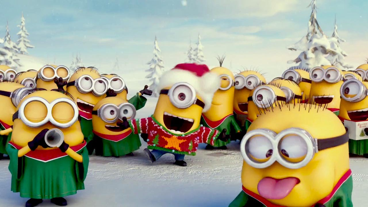 minions christmas song - youtube
