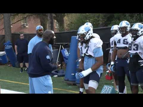 UNC Football: DL Coach Tray Scott Mic'd Up at Spring Practice