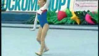 young russian gymnast floor