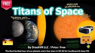 Titans of Space for Gear VR and Android - The Best VR 3D Guided tour of our planets.