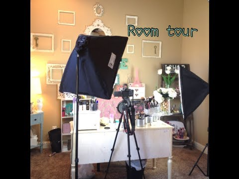Makeup Room TourFilming Setup  Organization Tips