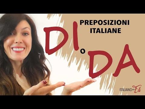 Preposizioni italiane DI