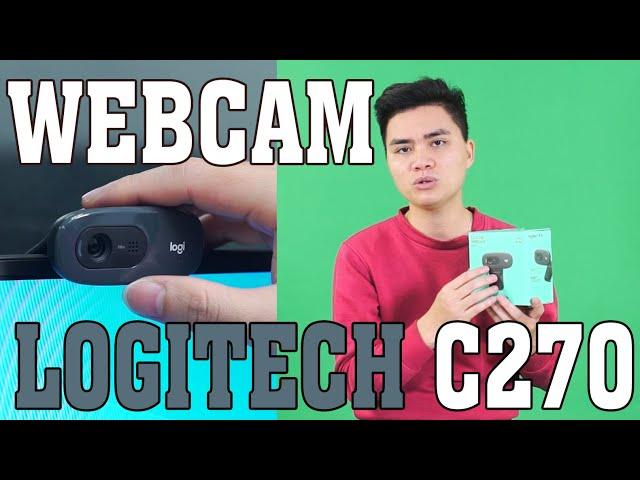 Webcam Logitech C270 họp trực tuyến Zoom, học online tại nhà