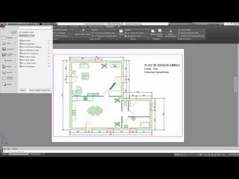 autocad 2015 tutoriel o francais 03 deplacer copier With creer plan maison 3d 1 autocad e5 tutoriel francais 08 mettre en page