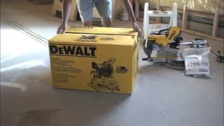 "Dewalt Dw717 10""  Sliding Compound Miter Saw Usage And Blade Changing.mov"