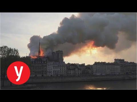 שריפת ענק בקתדרלת נוטרדם בפריז
