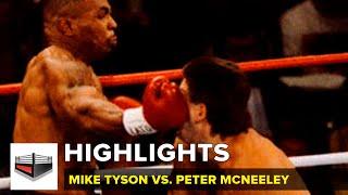La primera pelea de Tyson tras prisión: Mike Tyson vs Peter McNeeley / VIDEO - HIGHLIGHTS - KO