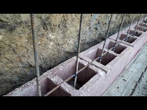 Building DIY Retaining Wall Concrete  Block With Cement Sand And Steel 2018 Year