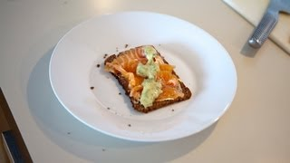 Gravlax on Rye Bread with Dill, Mustard and Lemon Sauce