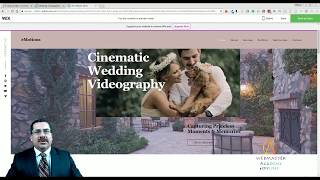 Wedding Videographer Template from Wix - Web Design - Tutorial (Part 1 of 2)