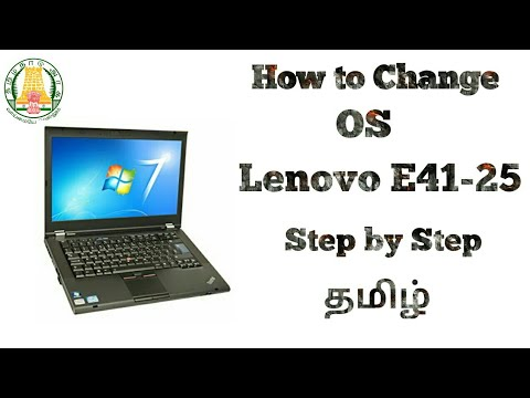 How To Change OS In Lenovo E41-25 Laptop | In Tamil | Tech Fox
