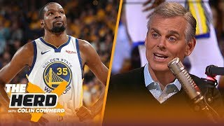 Kyrie just 'doesn't feel like Boston,' Warriors looked better playing without KD | NBA | THE HERD