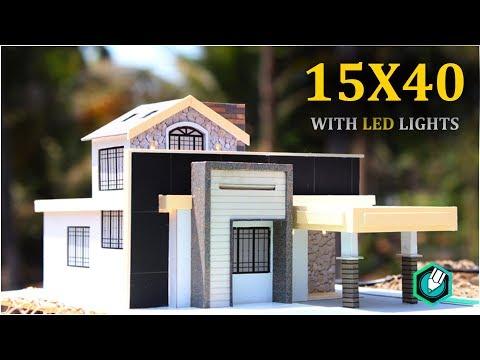 15X40 Simple elevation with LED lights setup