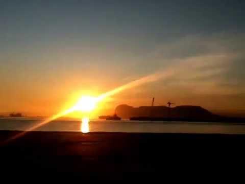 Amanecer en Gibraltar