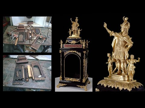 Antique clock restoration with casting and gold leaf gilding | ARC Services