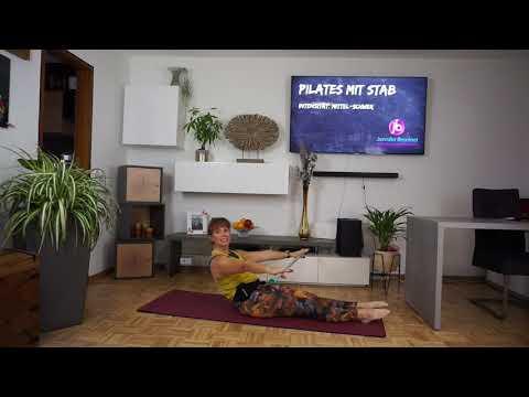 """Trailer: """"Pilates mit Stab"""""""