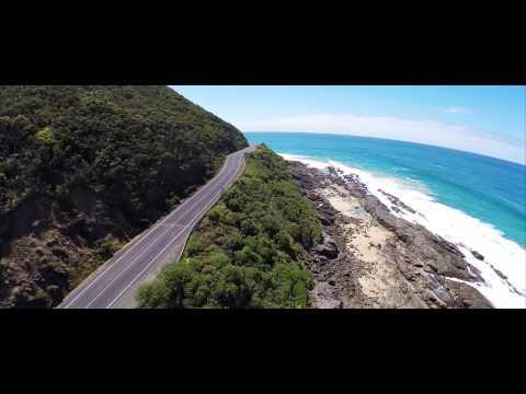 Driving The Great Ocean Road filmed via Drone