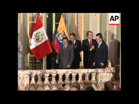 Colombian president Alvaro Uribe on official visit