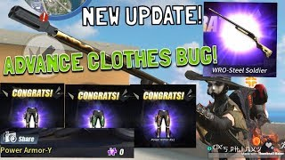 NEW WRO SKIN! // FREE ADVANCE CLOTHES BUG! (NEW UPDATE!) - Rules of Survival (Tagalog)