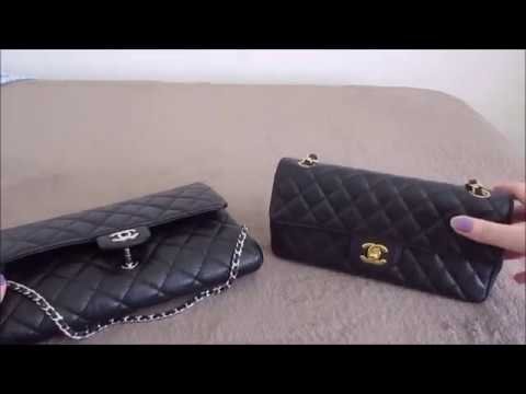 d16aae80f64410 Chanel Clutch with Chain vs East West Flap : Comparison - YouTube